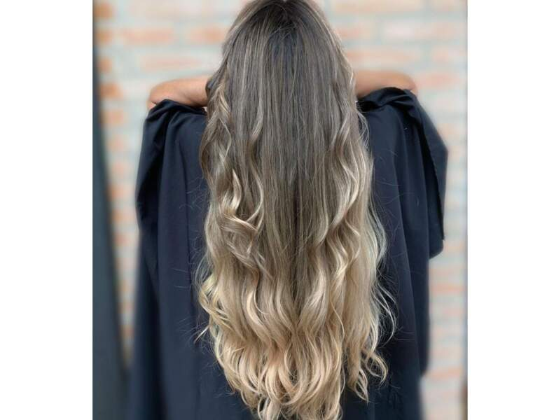 Ombré hair blond léger