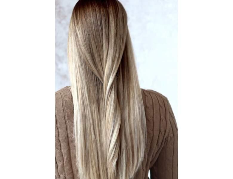 Ombré hair sur cheveux lisses