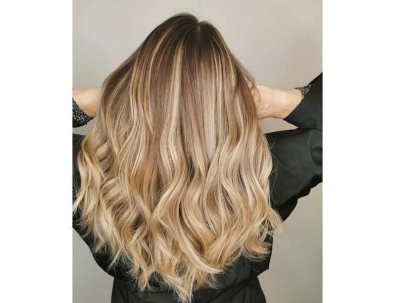 Ombré hair blond doré