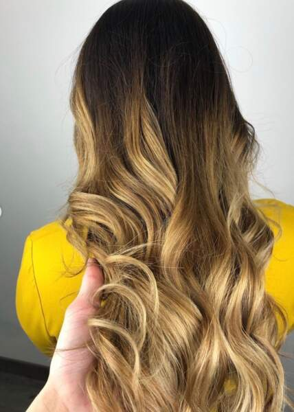 Ombré hair blond doré