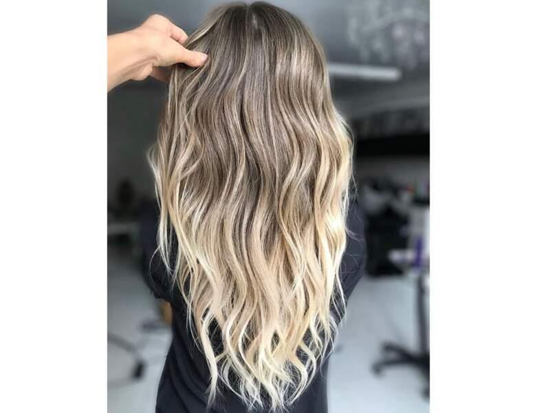 Ombré hair sur cheveux wavy