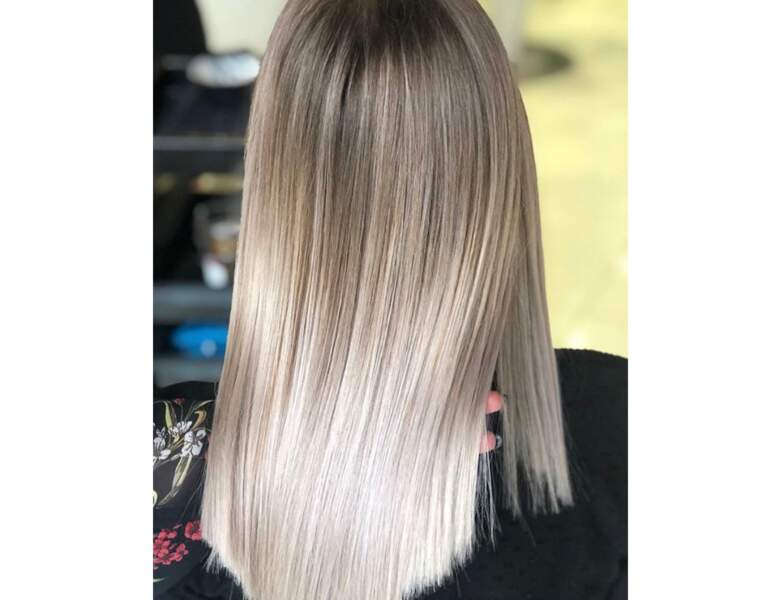 Ombré hair blond cendré