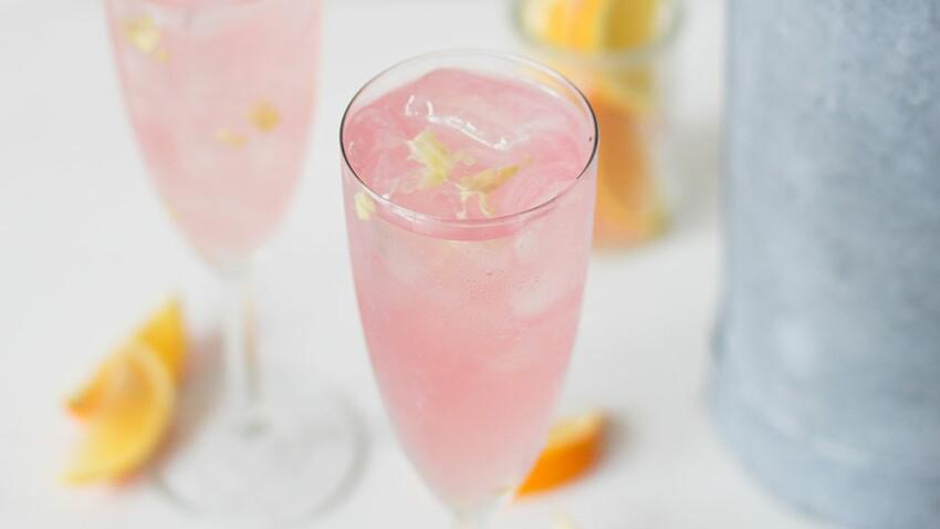 Mocktail fleur de sureau et litchi