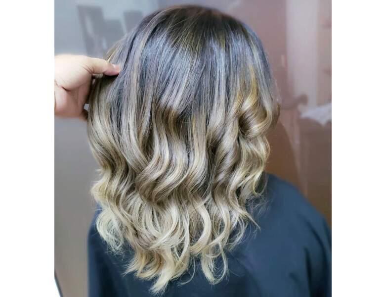 Ombré hair blond sur carré long