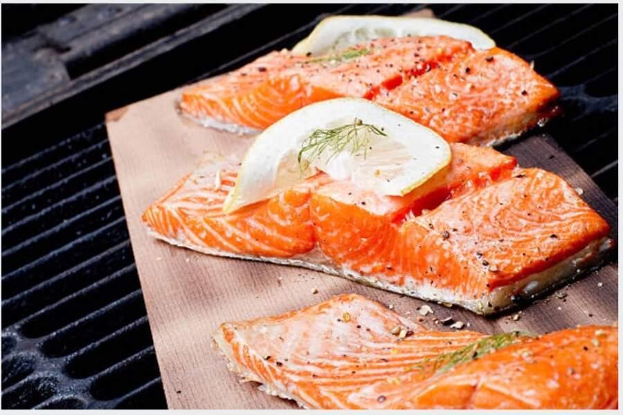 Pavé de saumon au barbecue