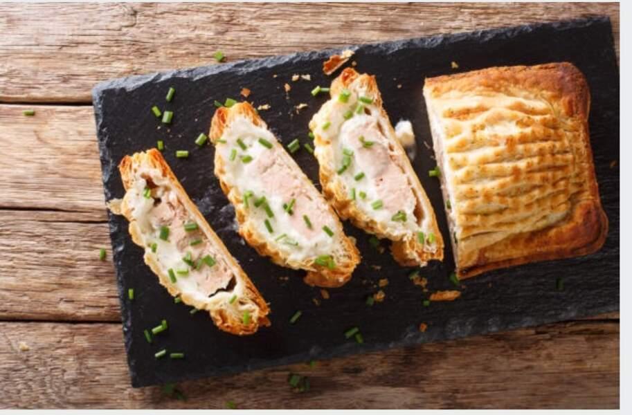 Feuilleté de saumon frais