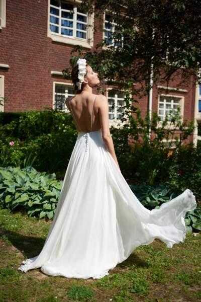 Robe bohème en dentelle de Lyon - Maison Floret