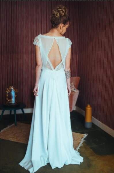 Robe bohème avec top en voile - Elsa Gary
