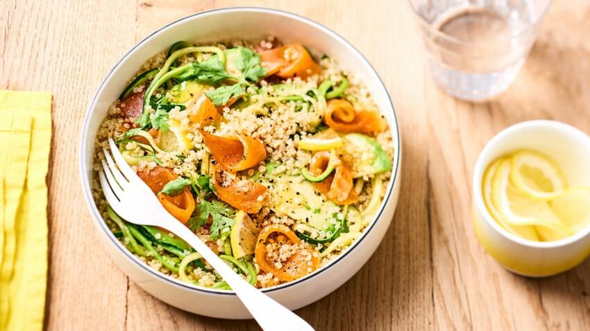 Salade fraîcheur de quinoa et truite fumée