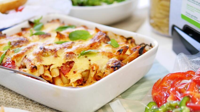Gratin de pâtes italien aux saucisses