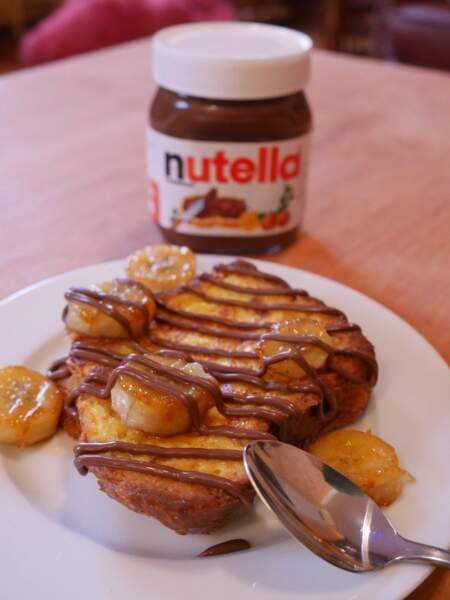 Pain perdu banane Nutella du Chef Grégory Cohen