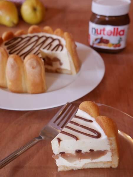 Charlotte aux poires et au Nutella