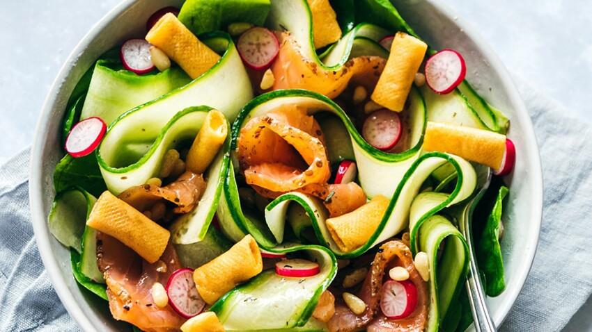 Salade fraîcheur aux crêpes fourrées Boursin