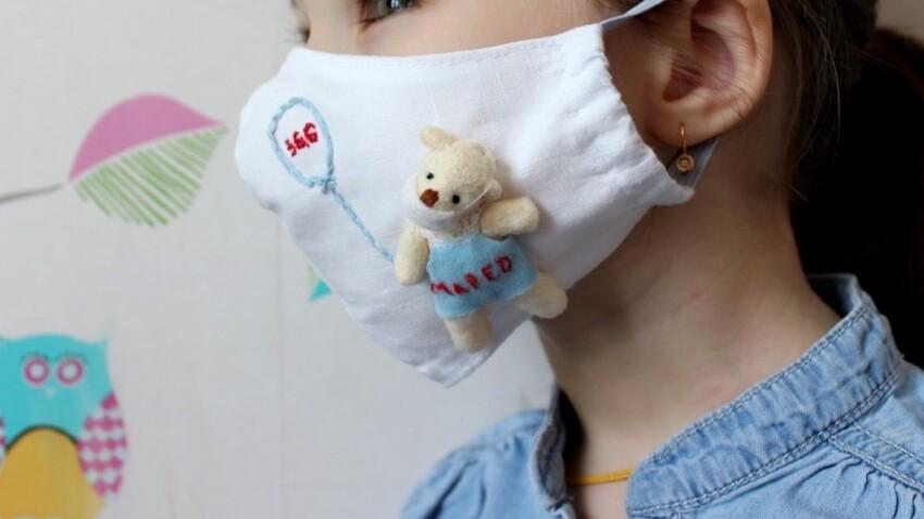 Tuto : un sur-masque personnalisé pour les enfants à faire en famille
