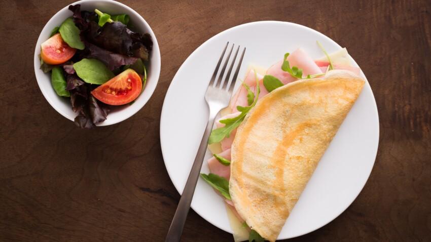 """""""Tous en cuisine"""" : la recette des crêpes au jambon et salade verte de Cyril Lignac"""