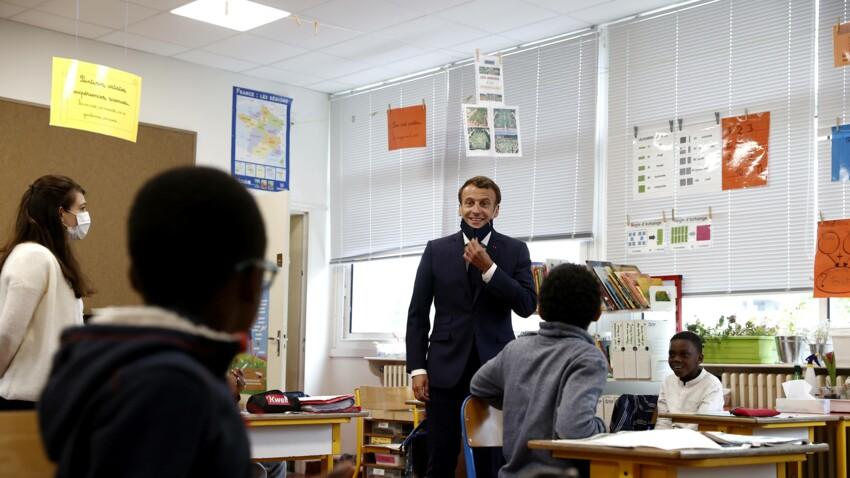 Emmanuel Macron La Grosse Bourde Du President Lors De Sa Visite Dans Une Ecole Femme Actuelle Le Mag