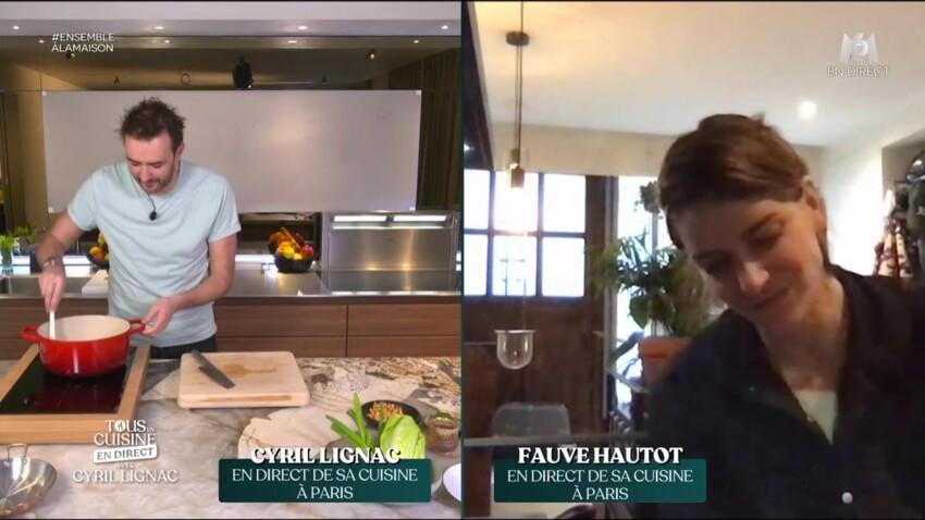 """""""Tous en cuisine"""" : Fauve Hautot taquinée par son amoureux en direct"""