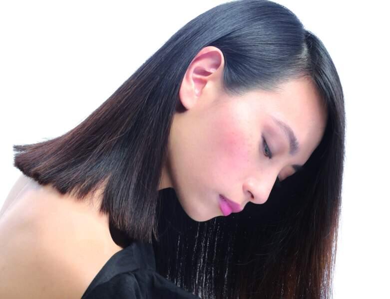 Carré long sur cheveux lisses