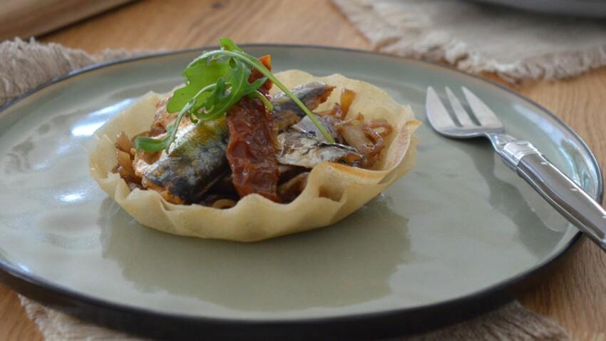 Tartelette fine aux sardines