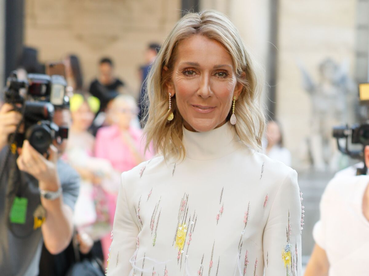 Celine Dion Coupe Courte Blonde Et Ultra Bouclee L Auriez Vous Reconnue Oups Femme Actuelle Le Mag