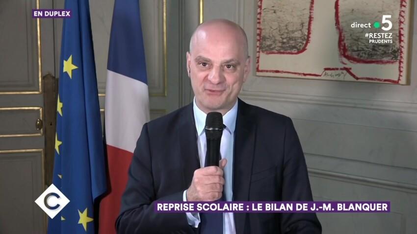 """""""C à vous"""" : Jean-Michel Blanquer fait une blague à Anne-Elisabeth Lemoine, inquiète pour le bac de son fils"""