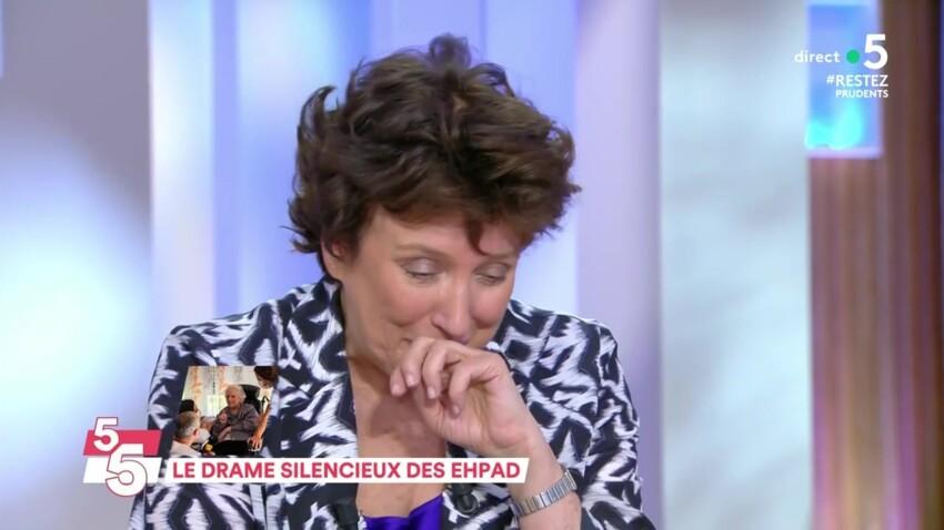 """""""C à vous"""" : Roselyne Bachelot au bord des larmes face à la situation dans les Ehpad"""