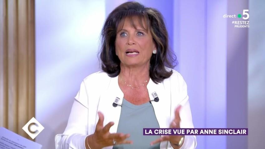 """Anne Sinclair s'en prend à Emmanuel Macron et sa communication sur les masques dans """"C à vous"""""""