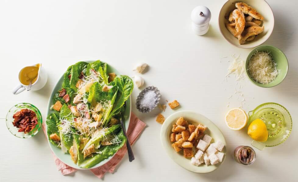 """""""Tous en cuisine"""" : la recette de la salade César de Cyril Lignac"""