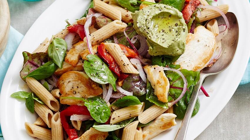 Salade tiède au poulet grillé