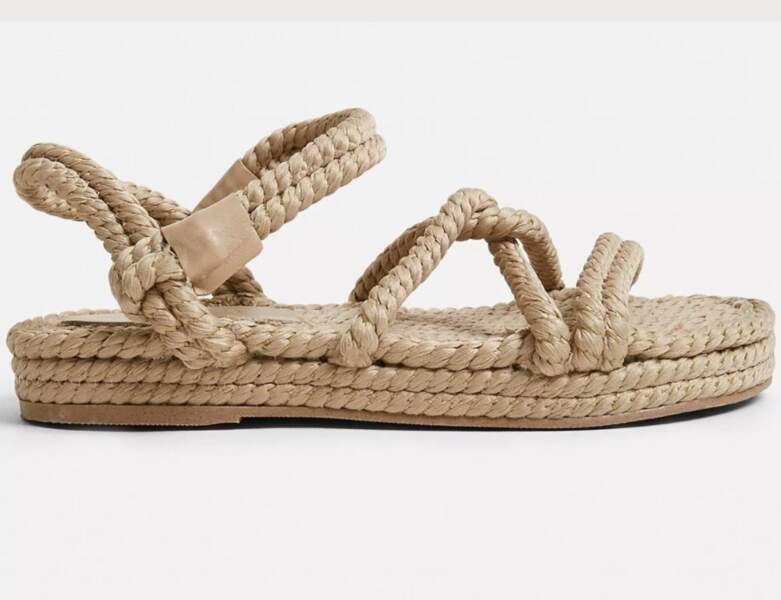 Chaussure raphia tendance : les sandales 100% corde