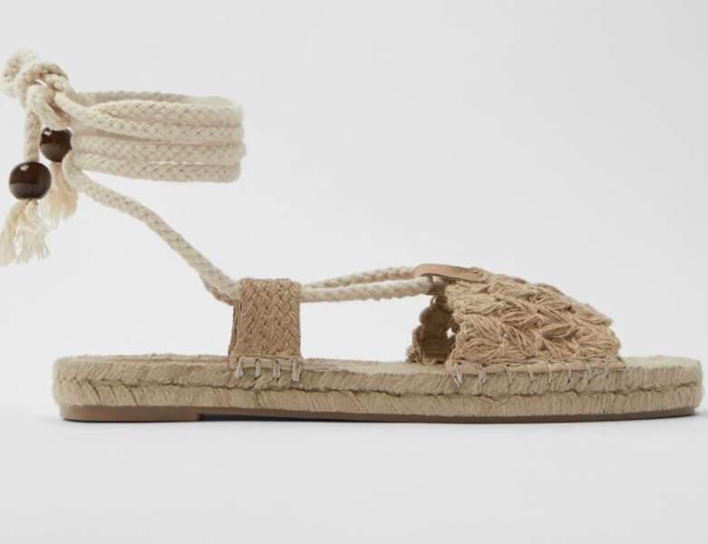 Chaussure raphia tendance : espadrilles ouvertes