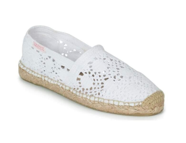 Chaussure raphia tendance : espadrilles ajourées