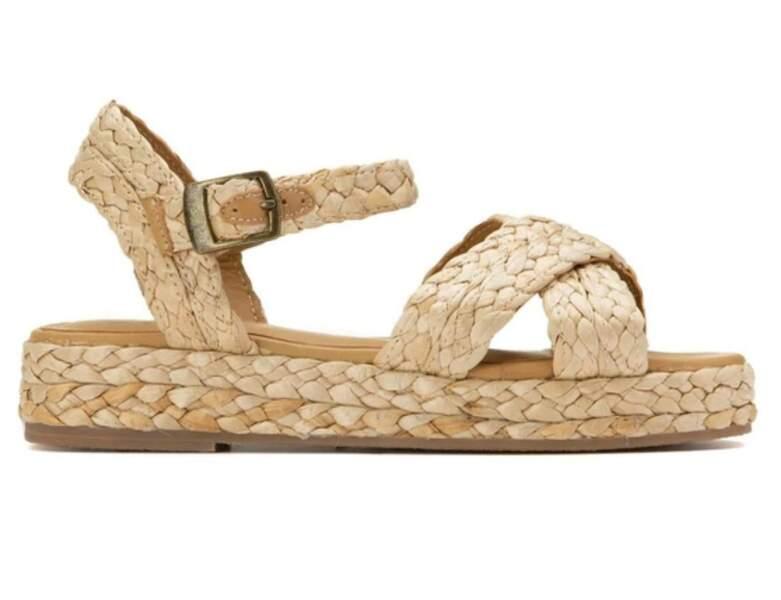 Chaussure raphia tendance : sandales canon