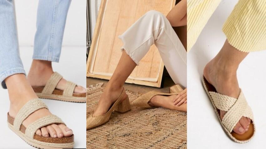 Chaussures tendance raphia : 15 modèles canons pour cet été