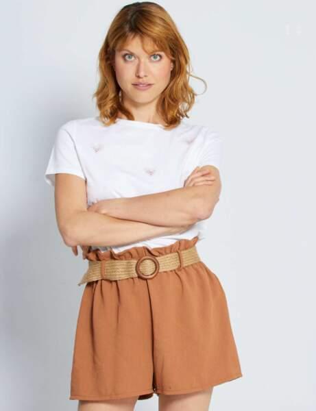 Short tendance pas cher : avec ceinture et coloré
