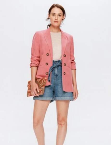 Short tendance pas cher : en jean taille haute