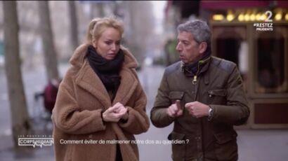 Adriana Karembeu et Michel Cymes testent une position (très) suggestive