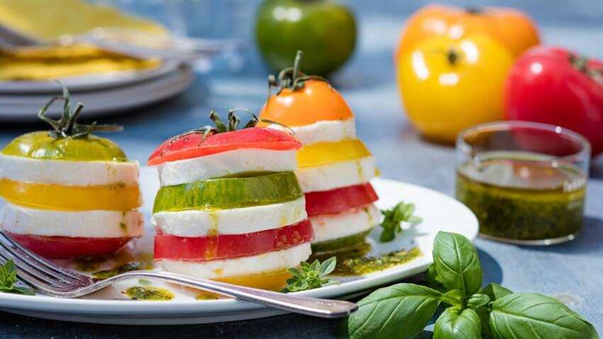 Pyramides tomate mozzarella