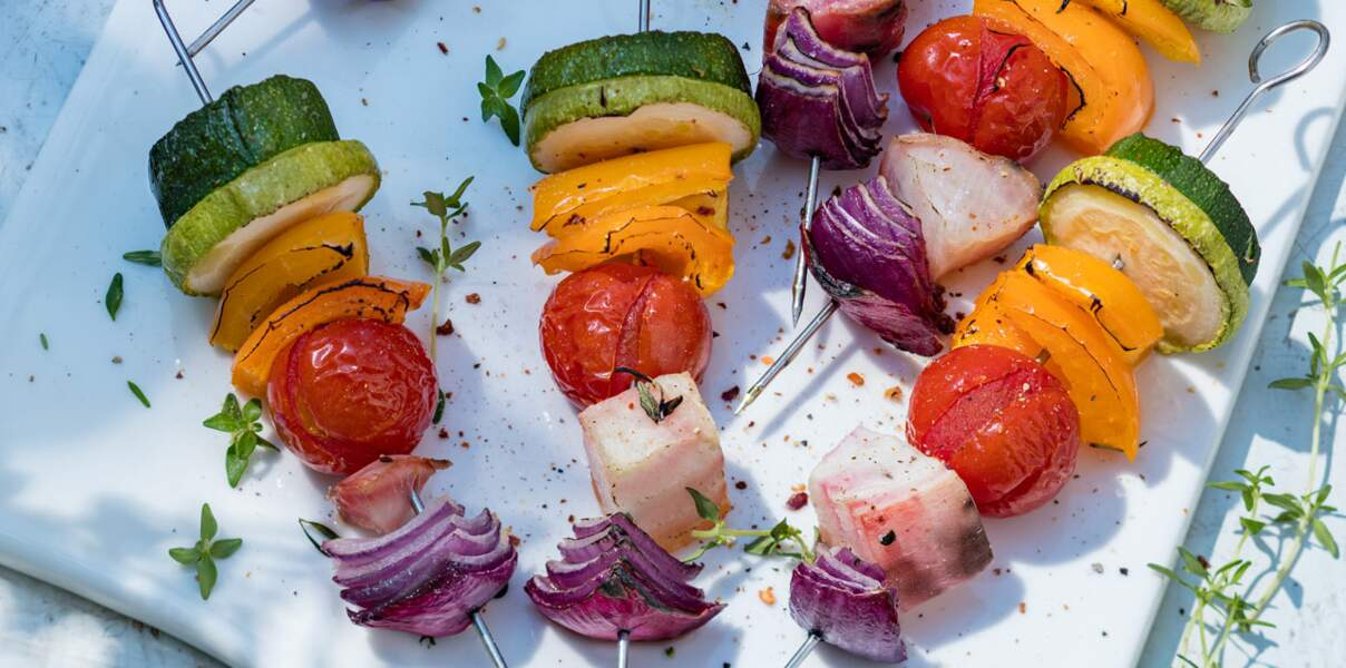 Brochettes veggies