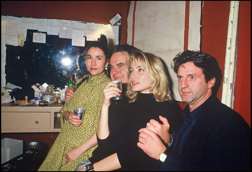 Guy Béart et ses deux filles