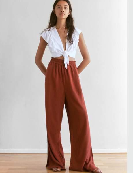 Pantalons d'été qui affinent : en lin élastique
