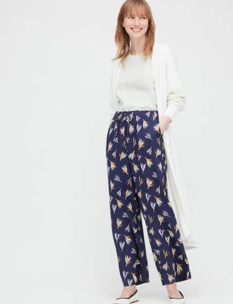 Pantalons d'été qui affinent : avec un imprimé et ample
