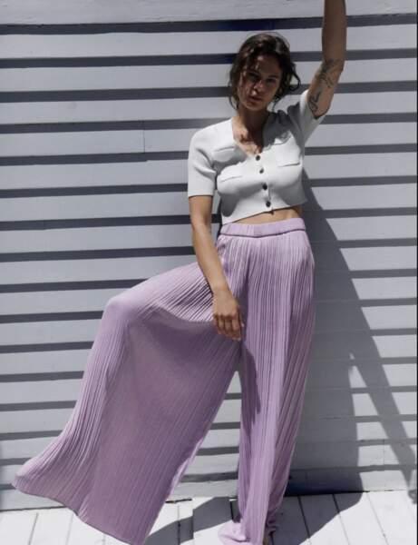 Pantalons d'été qui affinent : un palazzo coloré