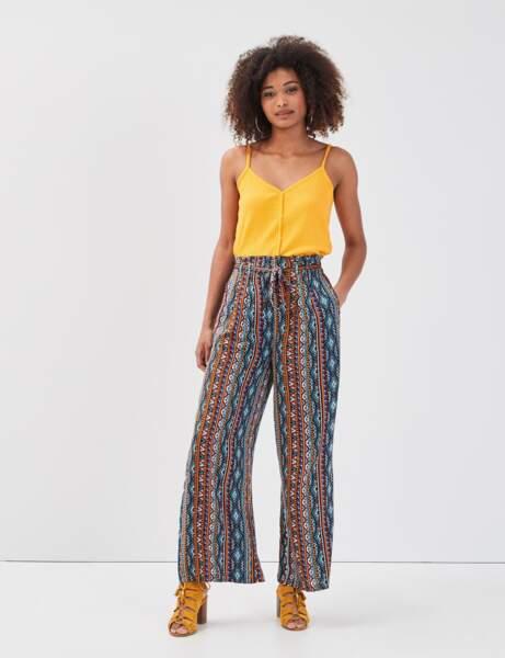 Pantalons d'été qui affinent : à imprimé canon