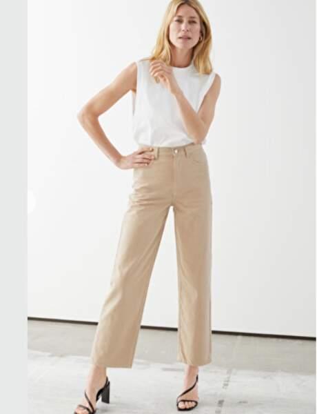Pantalons d'été qui affinent : clair et évasé