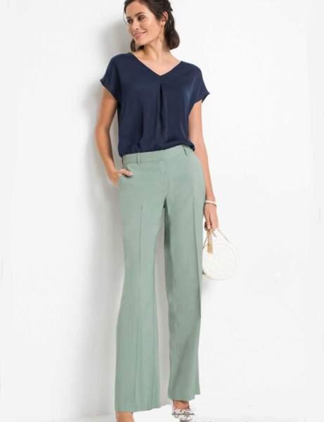 Pantalons d'été qui affinent : large et pastel très tendance