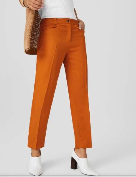 Pantalons d'été qui affinent : fluide en lin mélangé