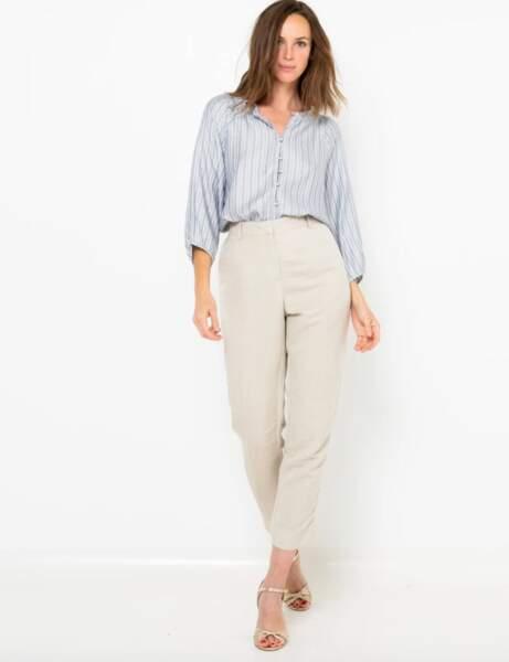 Pantalons d'été qui affinent : clair avec une forme flatteuse