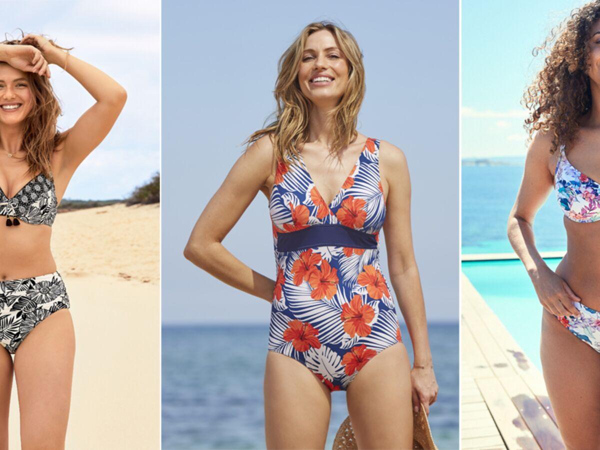 Mode pour les rondes : quel maillot de bain imprimé choisir après 50 ans ? : Femme Actuelle Le MAG 2