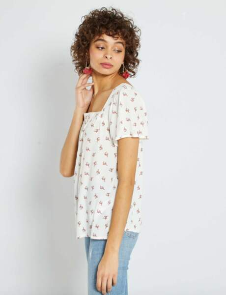 Mode 50 ans et plus : Une blouse fleurie